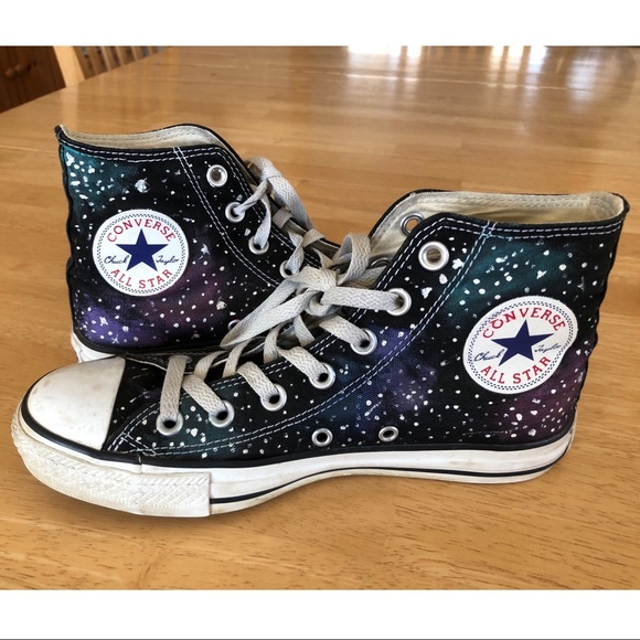 edea873a2162 Converse Shoes - Unisex hand-painted custom galaxy Converse